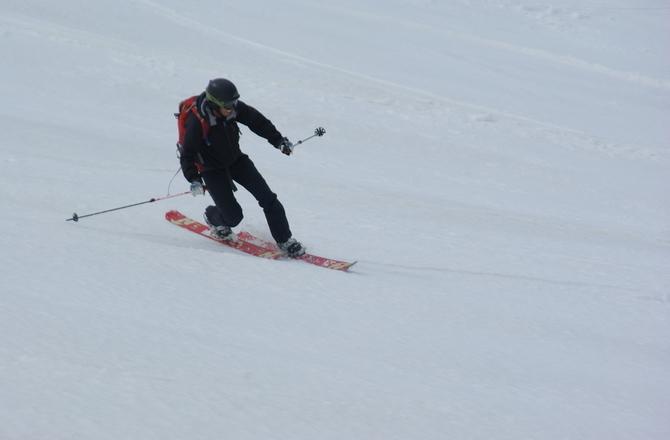 テレマークで自由なスキーを