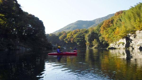 長瀞のカヤック体験/川から湖へ