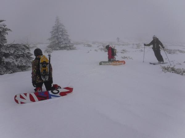 雪が激減!@バックカントリーツアー:ウェイブグライド