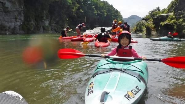 長瀞のカヤック体験/家族の夏休み