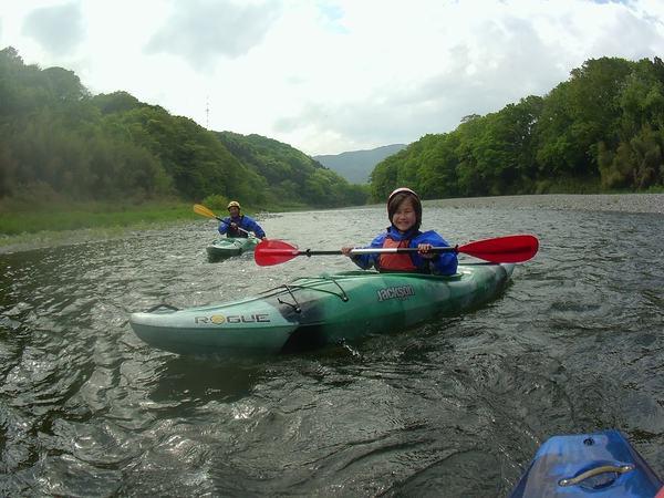 長瀞のカヤック体験/自分で漕ぐ面白さ