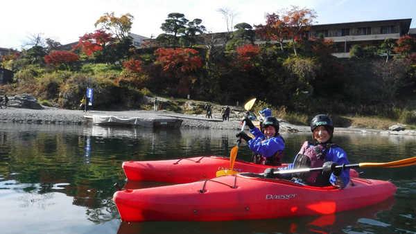 長瀞のカヤック体験/意外と暖かい秋