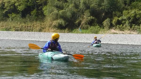 長瀞のカヤック体験/渇水の川下り