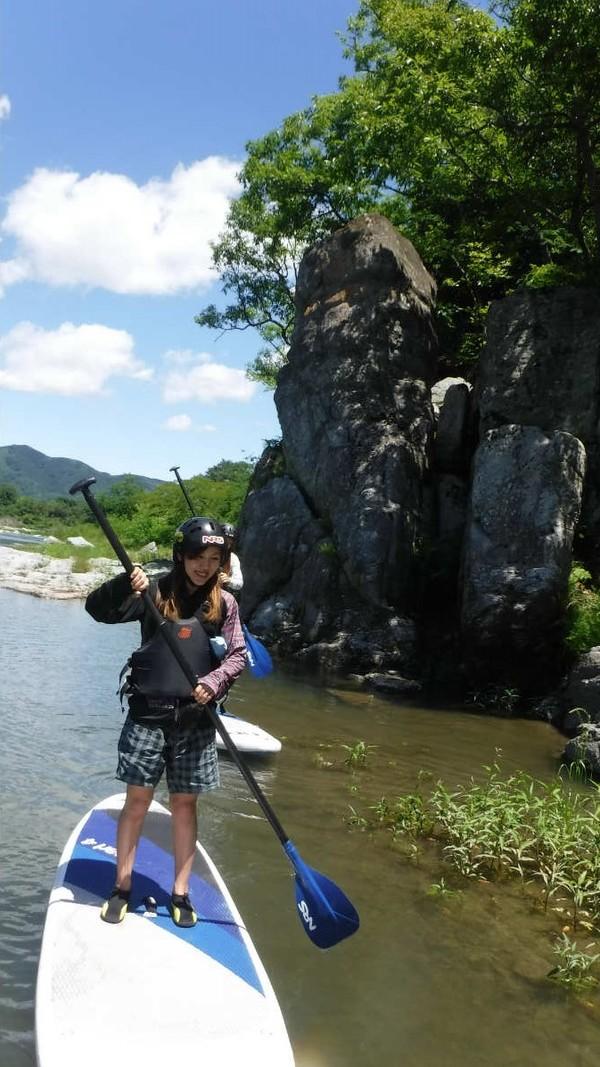 長瀞のSUP体験/夏のようです